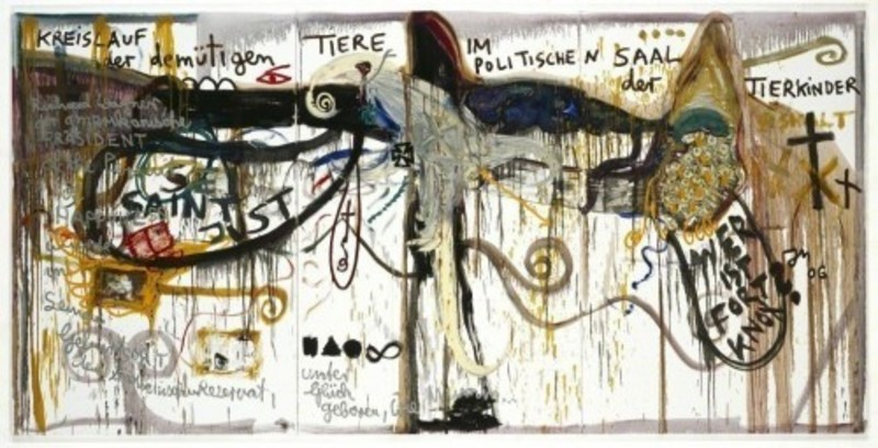 Jonathan MEESE - Painting - Kampf um Mars
