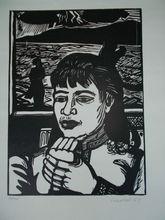 Erich HECKEL - Grabado - Junge Frau