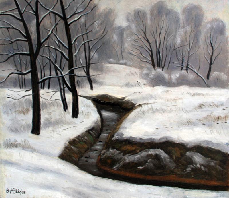 Valeriy NESTEROV - Pintura - Troparevo. Moscow