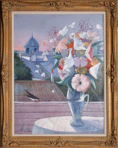 Charles LEVIER - Painting - Fleurs