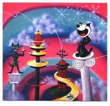Kenny SCHARF - Estampe-Multiple - Felix on a Pedestal
