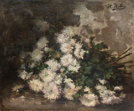 Hubert BELLIS - Pintura - Bouquet de fleurs