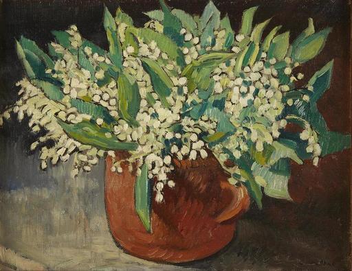 Louis VALTAT - Peinture - Bouquet de muguet