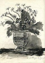 André Albert Marie DUNOYER DE SEGONZAC - Dibujo Acuarela - DESSIN À L'ENCRE ET LAVIS SIGNÉ HANDSIGNED INK DRAWING