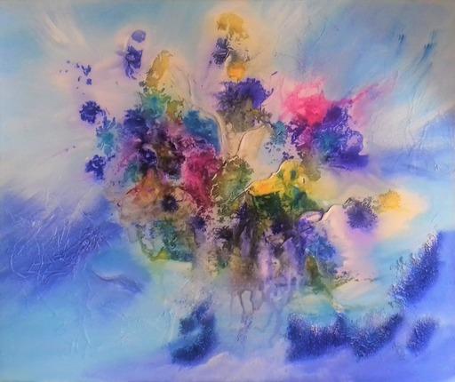 ANVAL - Painting - Floraison