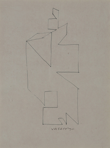 Victor VASARELY - Estampe-Multiple - Drawing I, 50's