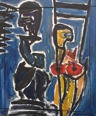 Christian DURIAUD - Pintura - Woman & man