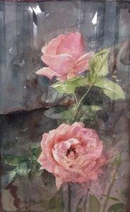 Pedro CANO - Painting - Dos Rosas