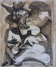 José Otero Abeledo LAXEIRO - Dessin-Aquarelle - POBRE