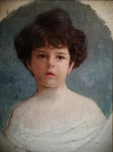 Viktor SCHARF - Painting - Portrait de jeune fille