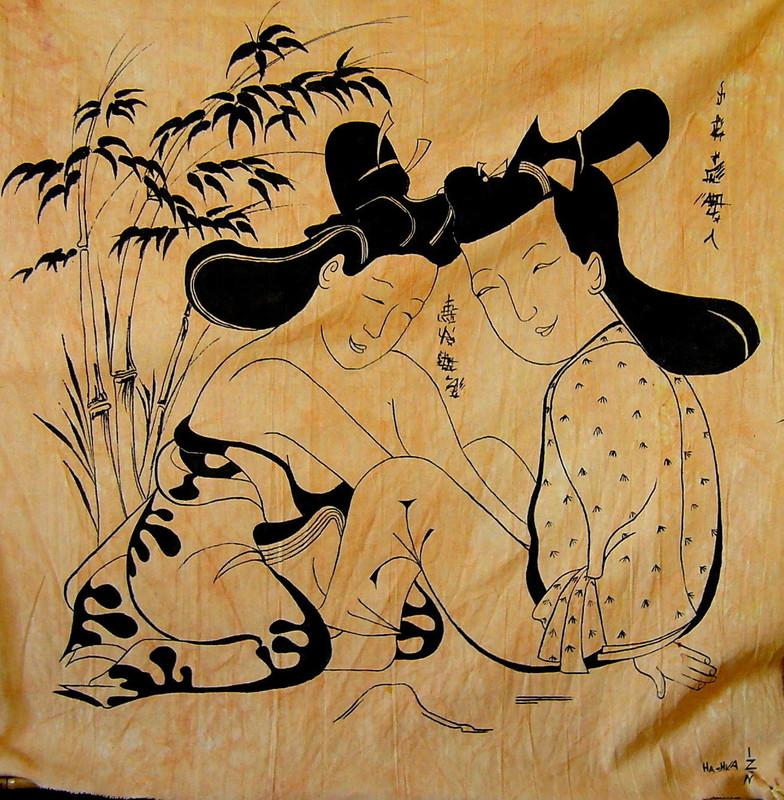 Hashka HU IZEN - Peinture - Loved garden 3