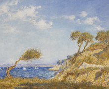 弗朗西斯·毕卡比亚 - 绘画 - Effet de soleil sur les bords de l'Étang de Berre