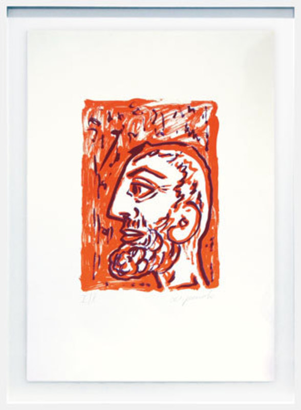 A.R. PENCK - Grabado - Philosoph (Selbst) - Philosopher (Self)