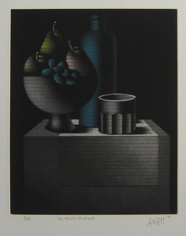 Mario AVATI - Druckgrafik-Multiple - GRAVURE 1974 SIGNÉE AU CRAYON NUM/85 HANDSIGNED NUMB ETCHING