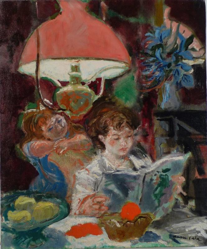 Emilio GRAU-SALA - Peinture - SOUS LA LAMP
