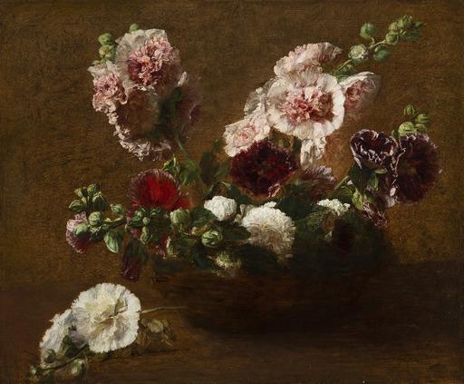 Victoria FANTIN-LATOUR - Gemälde - Panier d'oeillets