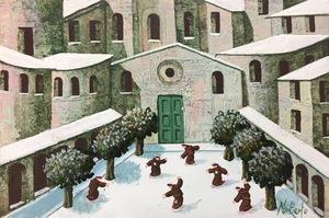 Norberto PROIETTI - Painting - La piazza