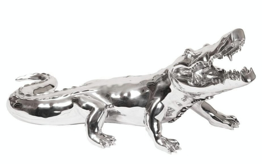 Richard ORLINSKI - Escultura - Crocodile argenté