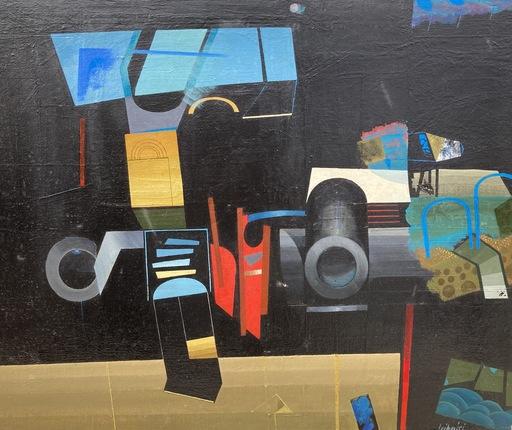 Michaël LEIBOVICI - Painting - Abstrait géométrique