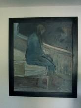 Béla KADAR - Painting - THE HOSPITAL BED