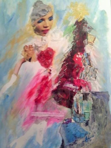 Marie NEIGE - Peinture - collage de noel