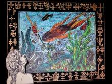 Robert COMBAS - Estampe-Multiple - Dans son univers de sous-marin vert...