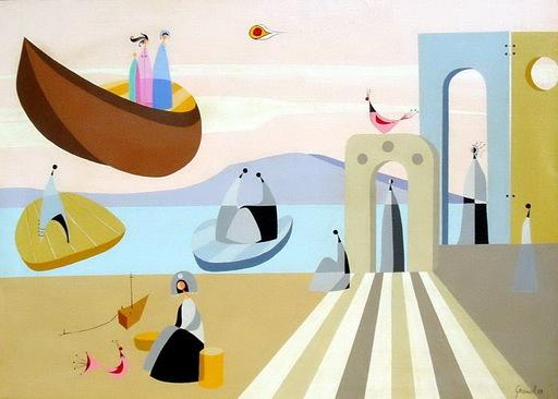 Mario GRANELL - Pittura - barcas voladoras