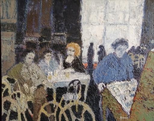 Jacques PEYRONNET - Pintura - Café sombre
