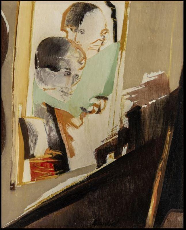 Remo BRINDISI - Painting - Maternità