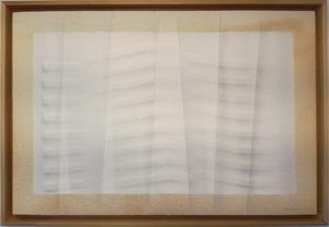Agostino BONALUMI - Painting - Estroflessione seta bianca