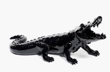 Richard ORLINSKI - Sculpture-Volume - Born Wild Crocodile (Black)