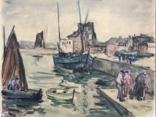 René LEFORESTIER - Drawing-Watercolor - Marine
