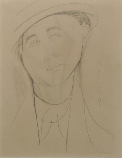 Amedeo MODIGLIANI - Disegno Acquarello - Le portrait de Moricand