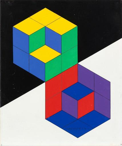 Victor VASARELY - Peinture - Hatsoeg-5