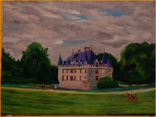 Jean-Claude RABOIN - Painting - Le château d'Azay-le-Rideau