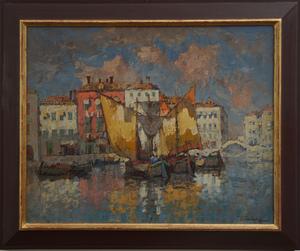 Konstantin Ivanovich GORBATOV, Venetian fishing boats,