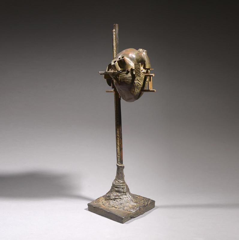 CÉSAR - Sculpture-Volume - Coeur éclaté