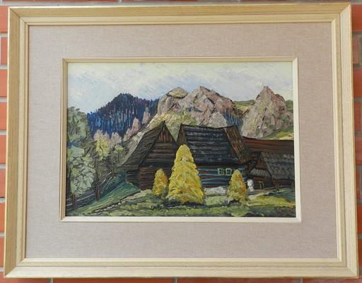 Vlastimil BENEŠ - Painting - Chalets under the barracks