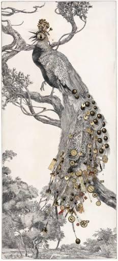 Bruno MALLART - Drawing-Watercolor - El cant dels ocelles
