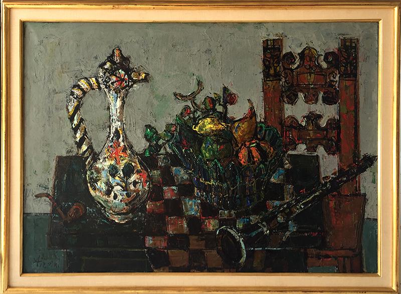 Paul AIZPIRI - Pittura - Still Life with Clarinet