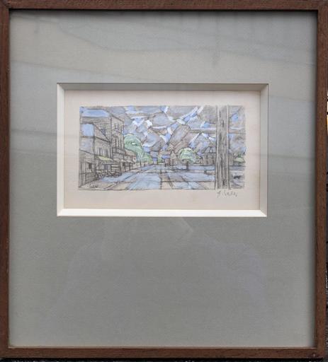 Hans SEILER - Drawing-Watercolor - La maison de van gogh