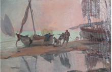 Alexandre DE CABANYES MARQUES - Painting - Tranquilidad de playa