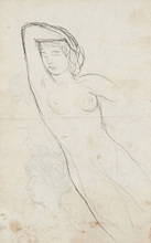 Pierre BONNARD - Drawing-Watercolor - Nude