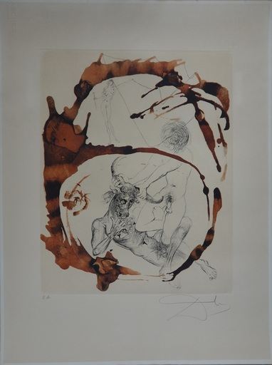 Salvador DALI - Print-Multiple - Mythology: Theseus and the Minotaur
