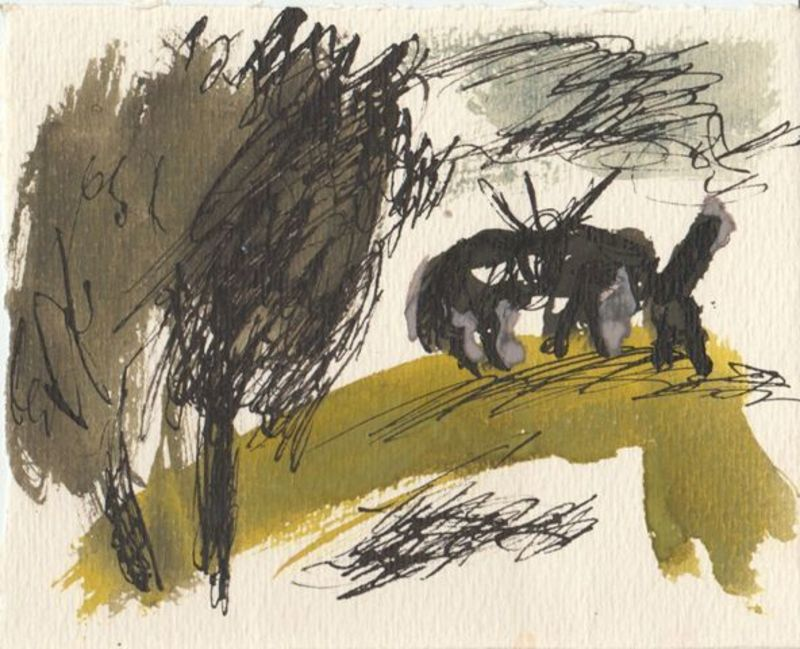 Anatoly SLEPYSHEV - Drawing-Watercolor - Horses