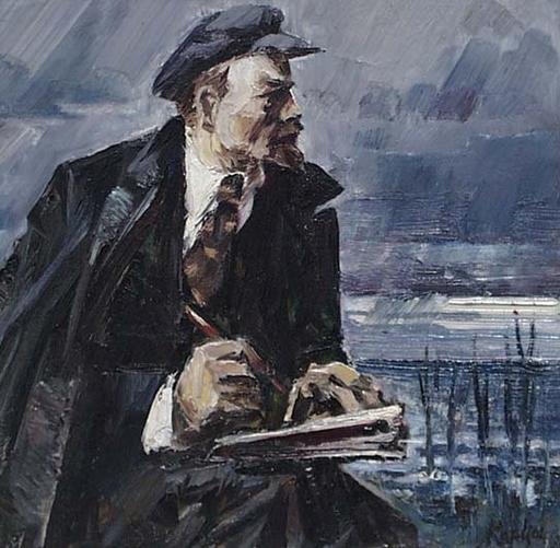 "Vassili KARKOTS - Peinture - ""Lenin"" by Vasili Karkots"