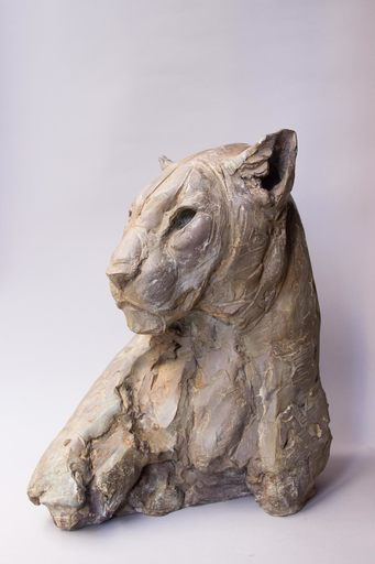 Patrick VILLAS - Scultura Volume - Tête de léopard féminin III