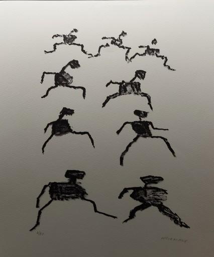 Henri MICHAUX - Grabado - Voie  des rythmes C162