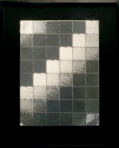 Heinz MACK - Pintura - Lichtrelief (Schachbrett)
