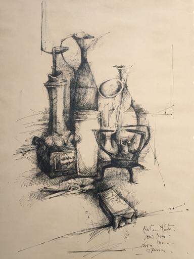 Louis PONS - Zeichnung Aquarell - aix